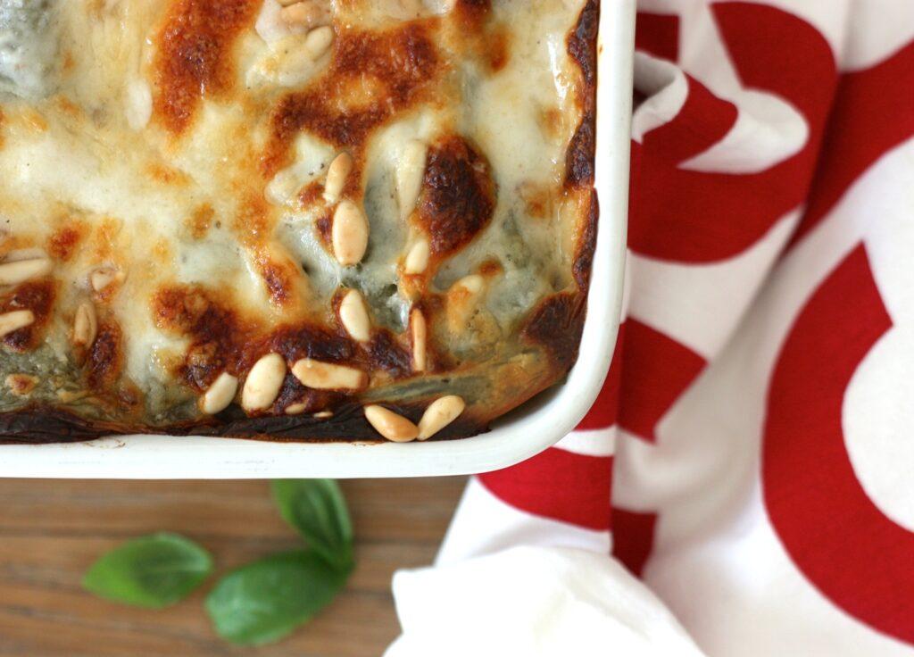 Roasted veg lasagne - cover