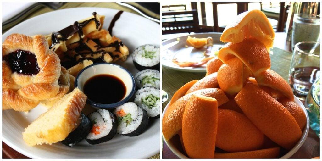Thailand breakfast Collage