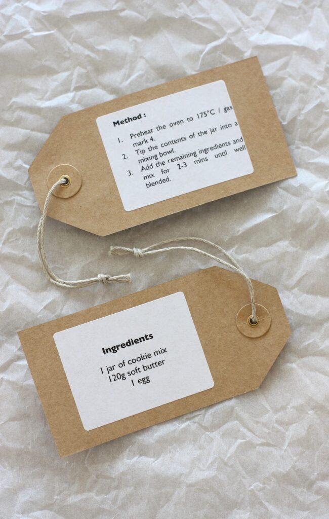 Triple Chocolate Cookies - labels