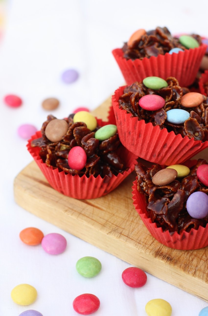 Chewy Chocolate Cornflake Cakes