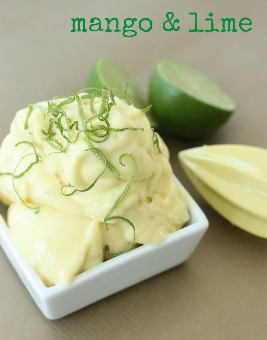 Super Healthy Ice Cream - mango & lime