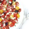 Roasted Tomato, Feta and Olive Salad – and coaxing out the flavour …