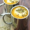 Roasted Carrot Soup with yoghurt & dukkah – and aching teeth …