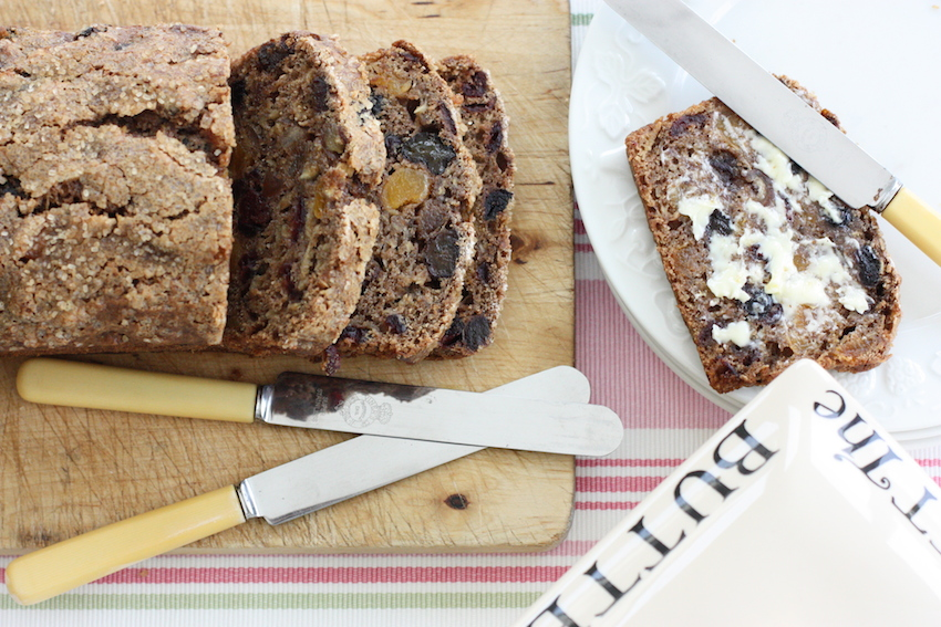 An easy, quick, SERIOUSLY fruity cake - perfect for breakfast or afternoon tea. It's filling too - that'll be the All Bran!