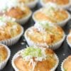 Coconut and Lime Syrup Muffins – and not just for Christmas …