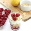 Easy Lemon and Raspberry Cheesecakes – and their number one fan …