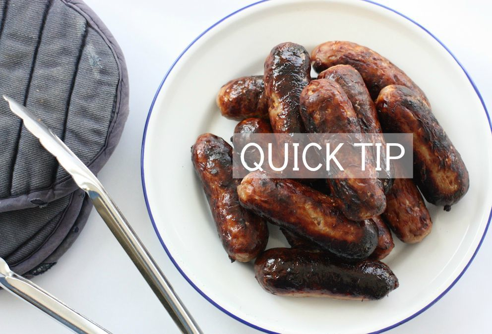sausages-cooked-quick-tip