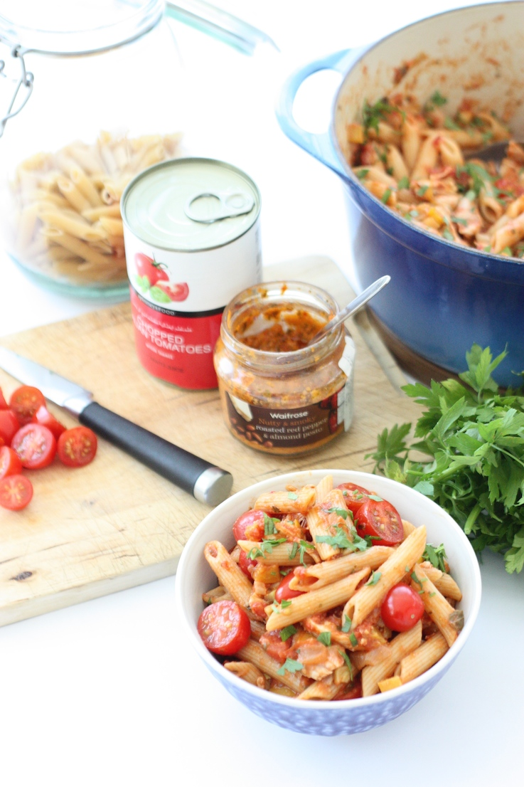 chicken-and-red-pesto-pasta-ingredients