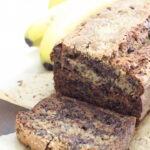 This Chocolate and Banana Bread is quick and easy with no fancy ingredients or special techniques. The bananas keep this cake moist and the dark chocolate chips give it a magical gooey quality. It is a winner in packed lunches, is popular as an after school snack and gets a big thumbs up as a cheeky breakfast too. Fin yourself some overripe bananas and get baking!