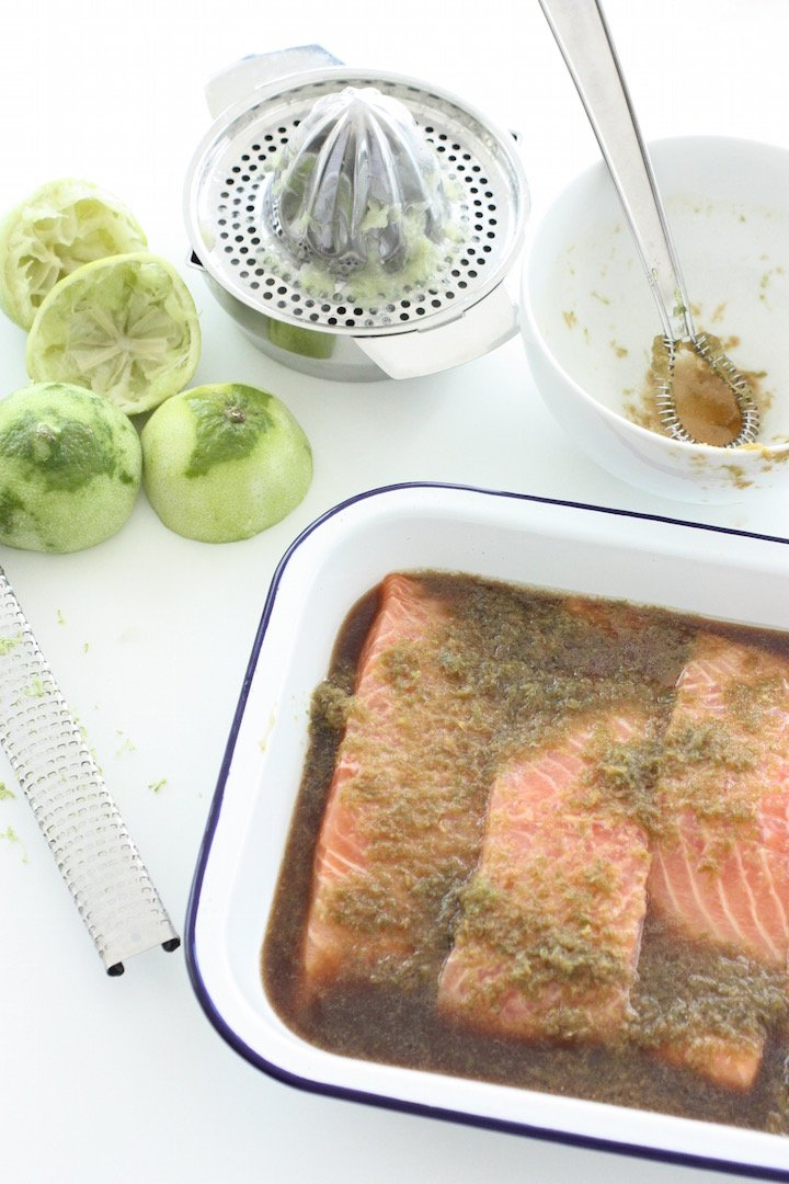 zesty-lime-and-ginger-salmon-marinading