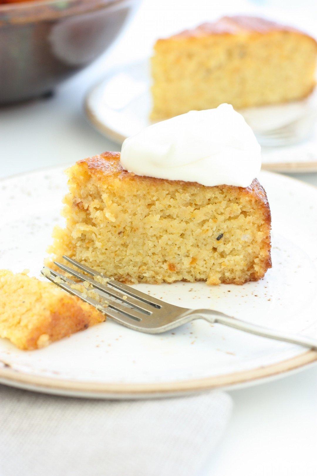 sticky-clementine-cake-fork