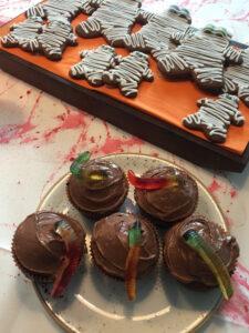 worm-cupcakes