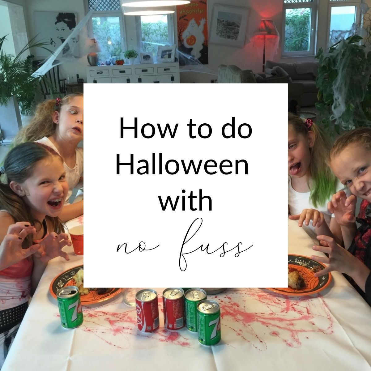 No fuss Halloween party cover