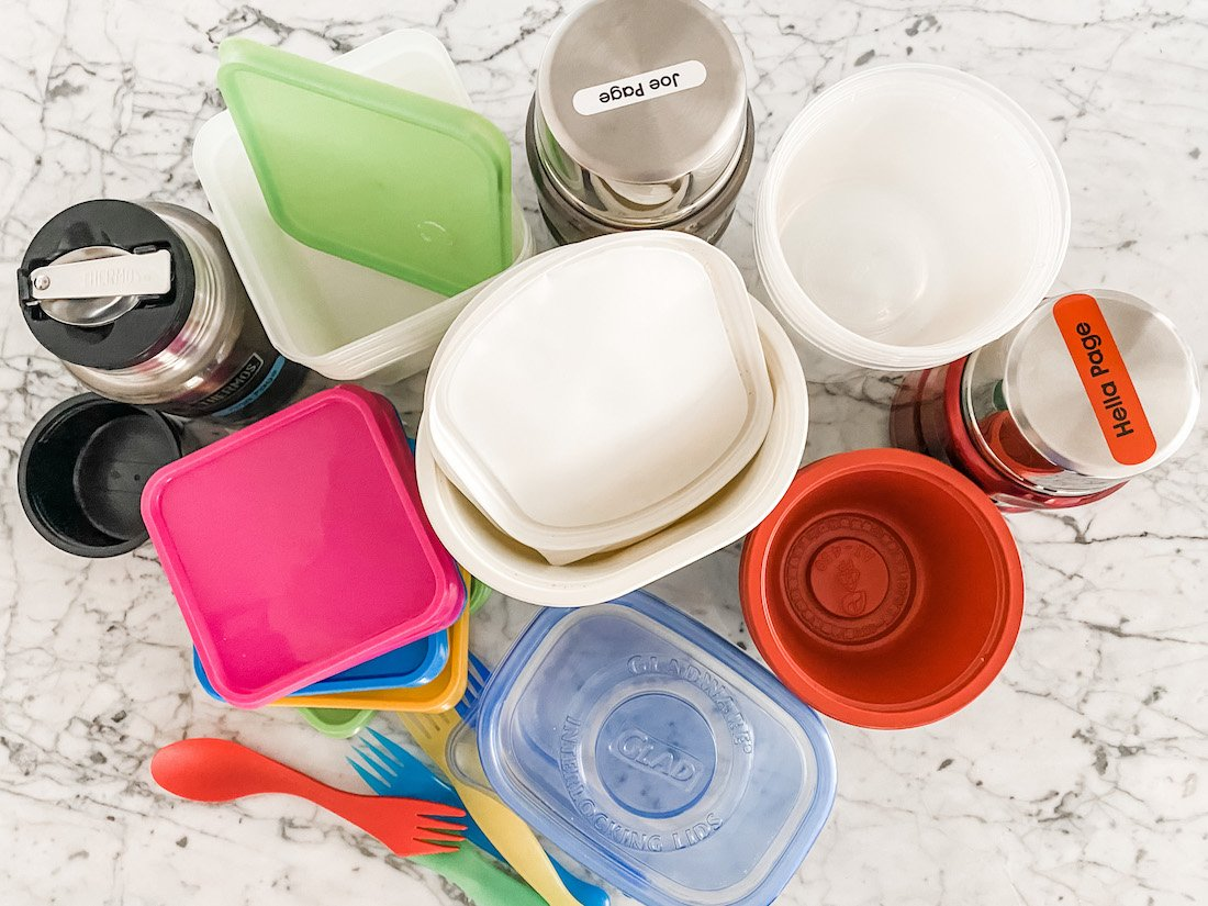Containers for food flasks