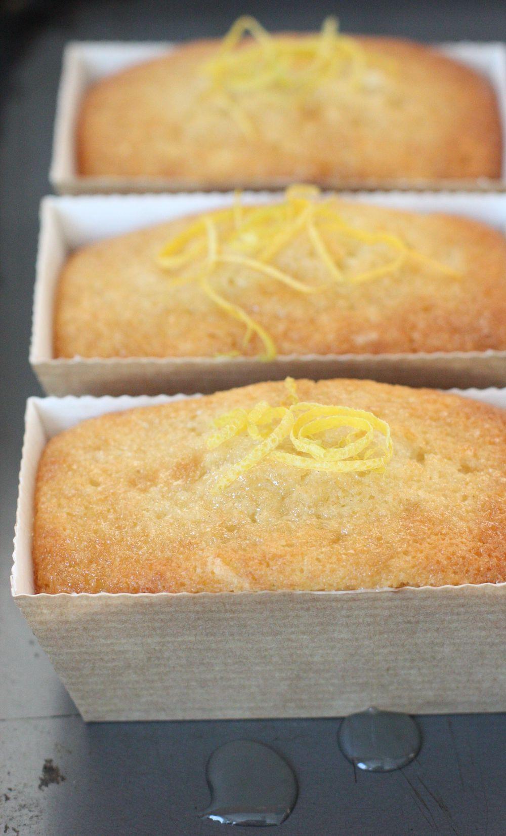 Mini Lemon Loaves in brown cardboard cases