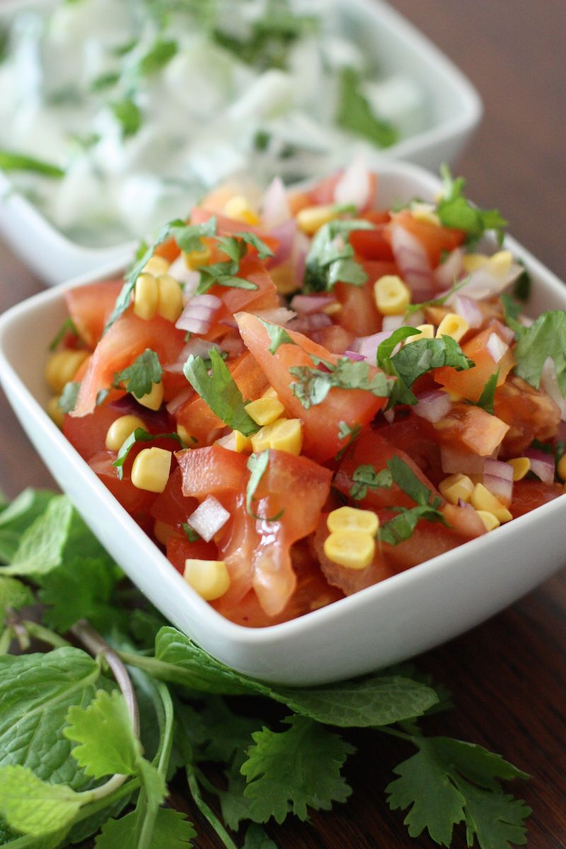 Salads to accompany the Mixed Lentil Dhal