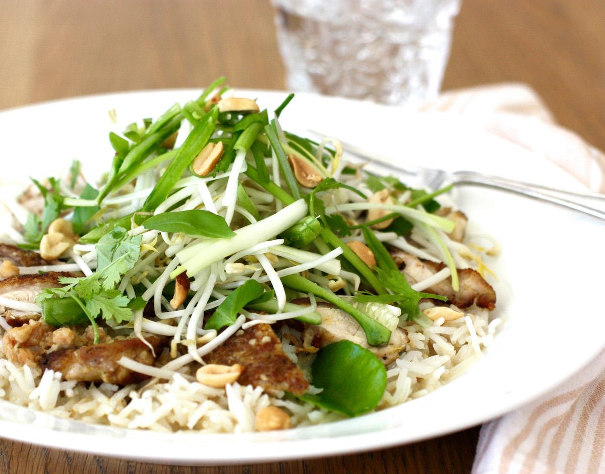Thai Chicken Satay Rice Bowl cover