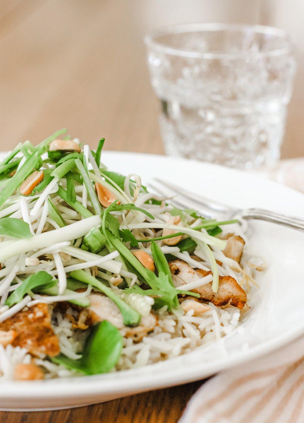 Thai Chicken Satay Rice Bowl vertical